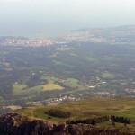 Panorámica completa desde la cima del Larrun