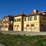 Estación de Tarazona. En la actualidad es un centro cultural, pero su estado de conservación es bastante malo.